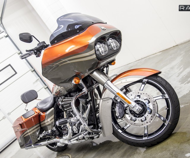 Orange Harley-Davidson